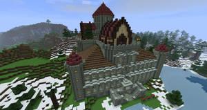Minecraft Movie Palace 2 by ConcreteCastleMagic