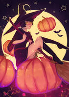 Pumpkin witch by shtolets