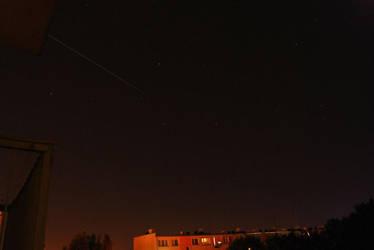 Perseid meteor streak by XanTyp