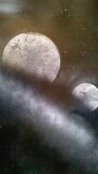 Two Moons - Spraypaint by Darklinkkyle