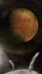 Impending Mars - Spraypaint by Darklinkkyle