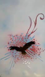 Soaring Above - Spray Paint by Darklinkkyle