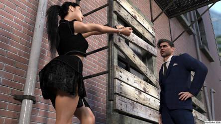 Rockergirl in the alley-08 by Gun3d