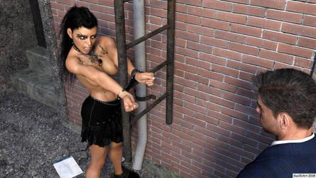 Rockergirl in the alley-10 by Gun3d