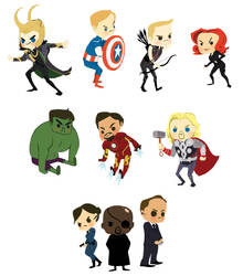 avengers stickers by 0-Banana-0