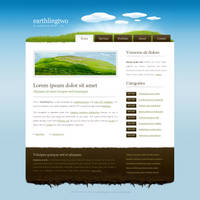 Free template 'EarthlingTwo' by nodethirtythree