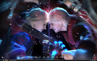 My Desktop v.6 - Nero vs Dante by BlackCross616