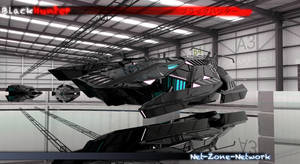 3D art work of my BlackHunter ship by Net-Zone-Network