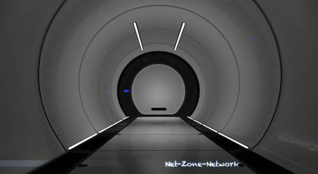 Corridor sci-fi hall. by Net-Zone-Network