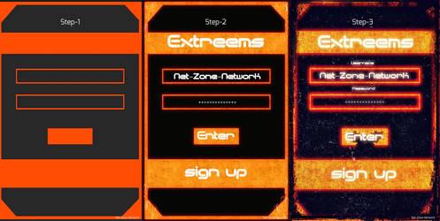 login hud display. by Net-Zone-Network