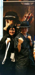Tak Sakaguchi and Me (as Rukia) @ A-Kon 23 by LadyPiccolo