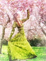 Ostara Between the blossoms by Ithilyen