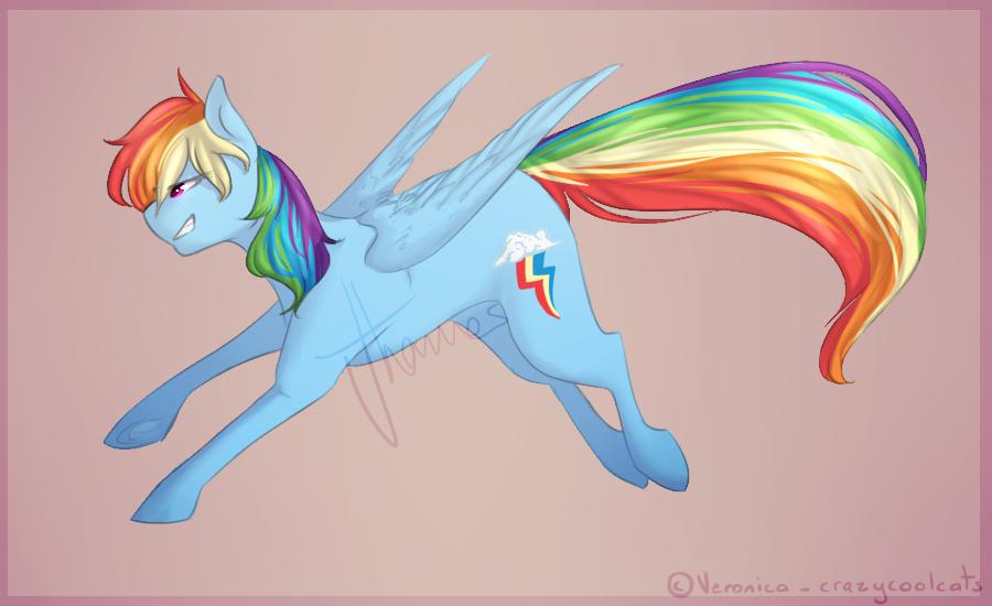 Rainbow Dash by crazycoolcats