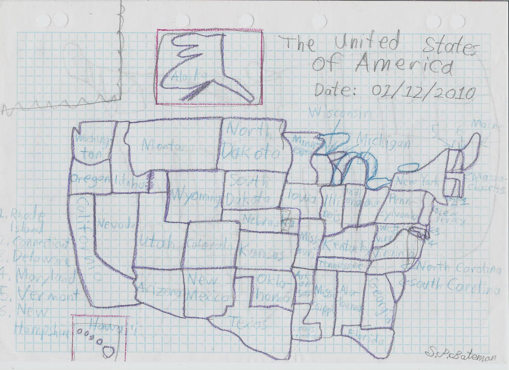 Hand Drawn Us Map.Hand Drawn Map Of The Usa By Sonamymovie On Deviantart