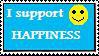 Pro-happiness stamp by YukiArashiRaikage