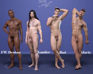 Denton, Xander, Ibai, Alaric by vwrangler
