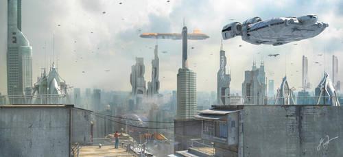Star Wars - Belleau City Earth by rOEN911
