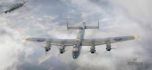 Avro lancasters by rOEN911