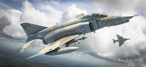 Hellenic air force f-4 phantom by rOEN911