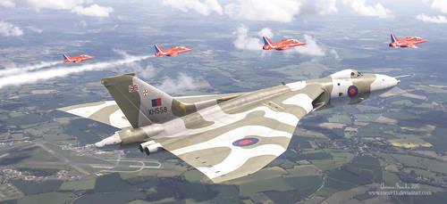The Last Royal Escort - Avro Vulcan xh558 by rOEN911