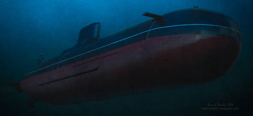 Typhoon-class submarine by rOEN911