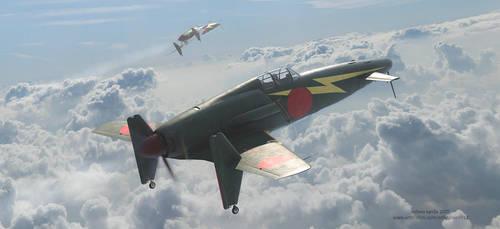 Kyushu J7W Shinden (Magnificent Lightning) by rOEN911