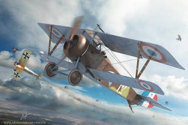 CopperState models Nieuport XVII Box Art by rOEN911