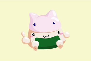 Happy onigiri by kevmofan