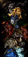 The Starry Wolves - Scroll by ZilvenArt