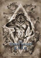 The Starry Wolves Postcard by ZilvenArt