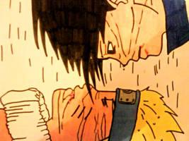 Naruto versus Sasuke by MiaHinasakie