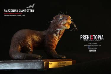 Amazonian Giant Otter - Nutria gigante amazonica by PREHISTOPIA