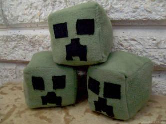 Minecraft Creeper head plush by xTwistedHeartPlushX