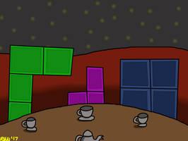 Tetris Tea Party On Mars by elijahtrevelyan