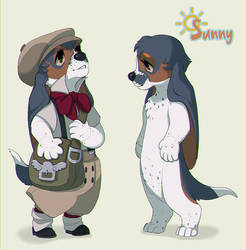 Sunny the Delivery Pup by painted-bees