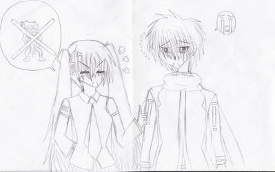 Kaito and Miku by niasapphire