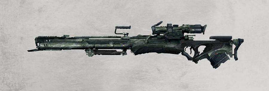 sniper rifle by Haidak
