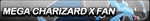 Mega-Charizard X Fan Button by VonKellcsiis