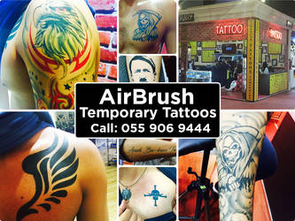 Temporary Airbrush Tattoo Kit Available in DUBAI by airbrushgallery ...