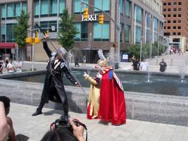 Sephiroth vs. Kefka by Lady-Tigress
