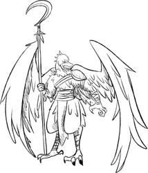 Monster Manual Doodle: Aarakocra by Queen-FenrisUlfr