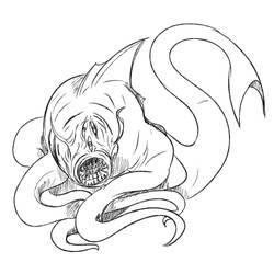 Monster Manual Doodle: Aboleth by Queen-FenrisUlfr