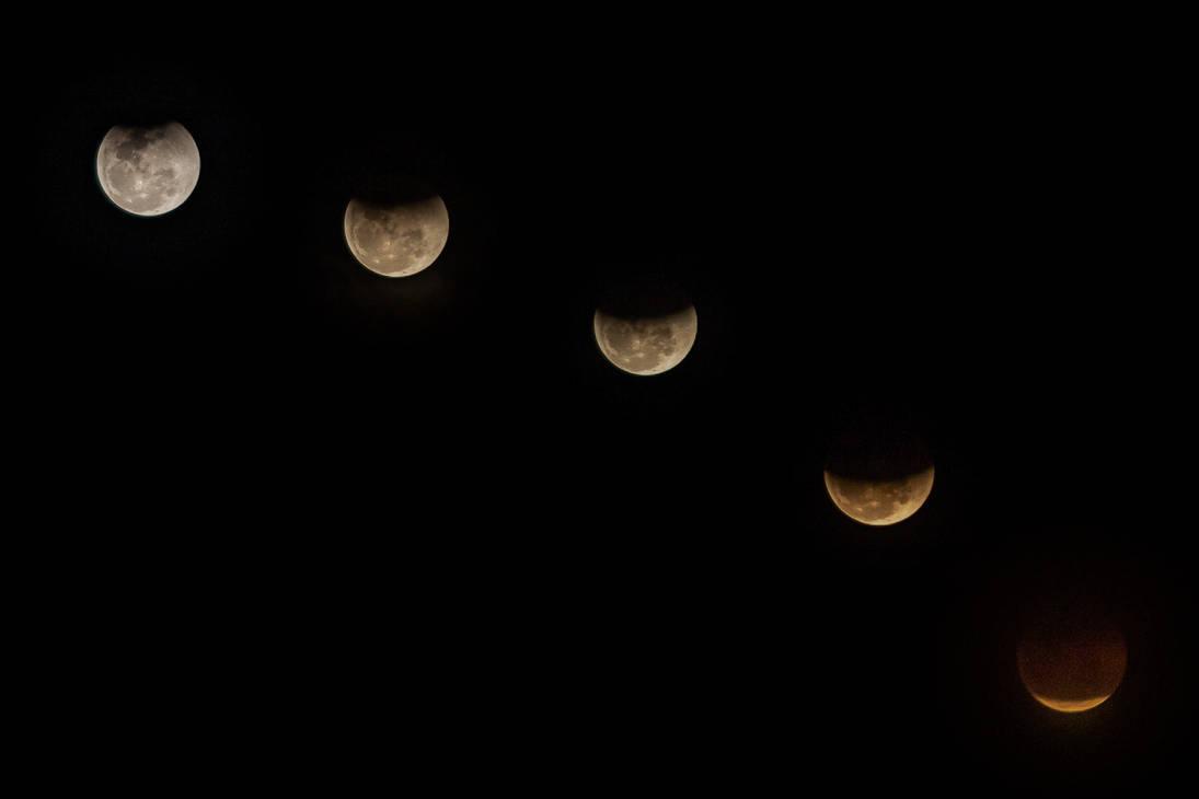 Lunar Eclipse Composite by zap-br