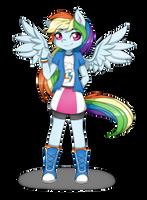 Rainbow Dash in Equestria Girls by Pillonchou