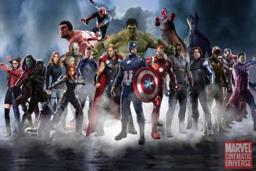 Marvel Cinematic Universe - HEROES by MrSteiners