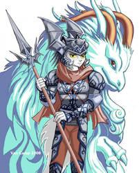 WhiteStar Anthro and True form by Lonerli