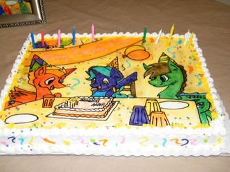 Happy Birthday MLP Cake by Lonerli