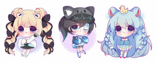 Chibi commission batch 1 by Creamyniwii