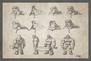 Barbarian Model Sheet by DerekLaufman