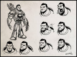 Character Concept - Expressions by DerekLaufman